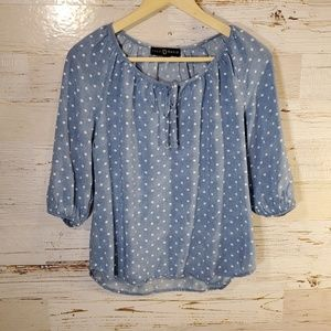 Fred David polka dot blouse